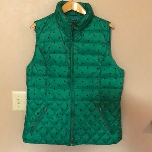 Fun polka dot Talbots vest size large. Like new.